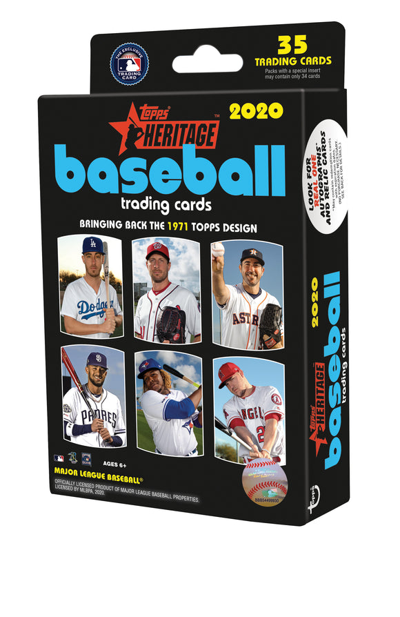 2020 Topps Heritage MLB Baseball - Hanger Box (Walmart Exclusive)