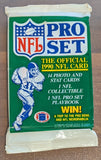 1990 NFL Pro Set Series 1 NFL Football - Retail Pack