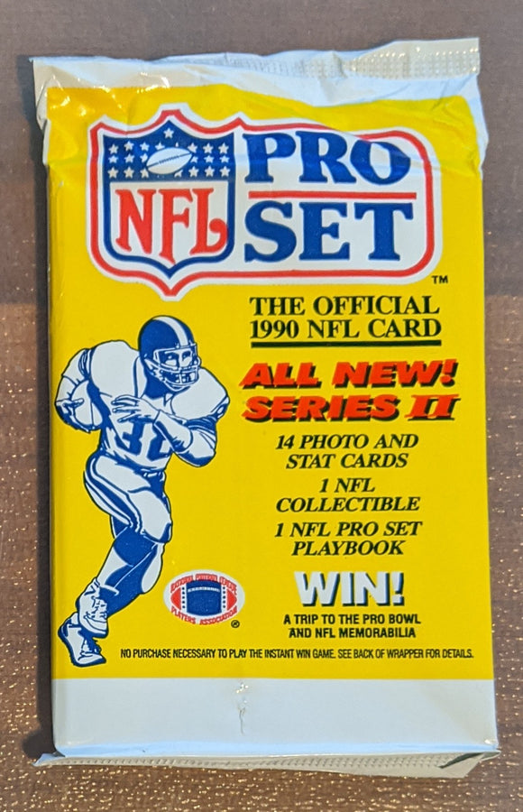 1990 NFL Pro Set Series 2 NFL Football - Retail Pack