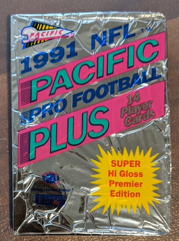 1991 Pacific Plus Series 1 NFL Football - Retail Pack