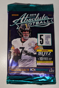 "2019 Panini Absolute NFL Football ""Dollar Tree Yellow"" - Gravity Pack"
