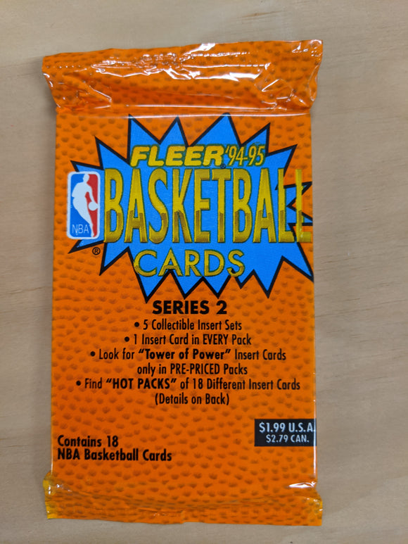 1994-95 Fleer Series 2 NBA Basketball - Retail Pack