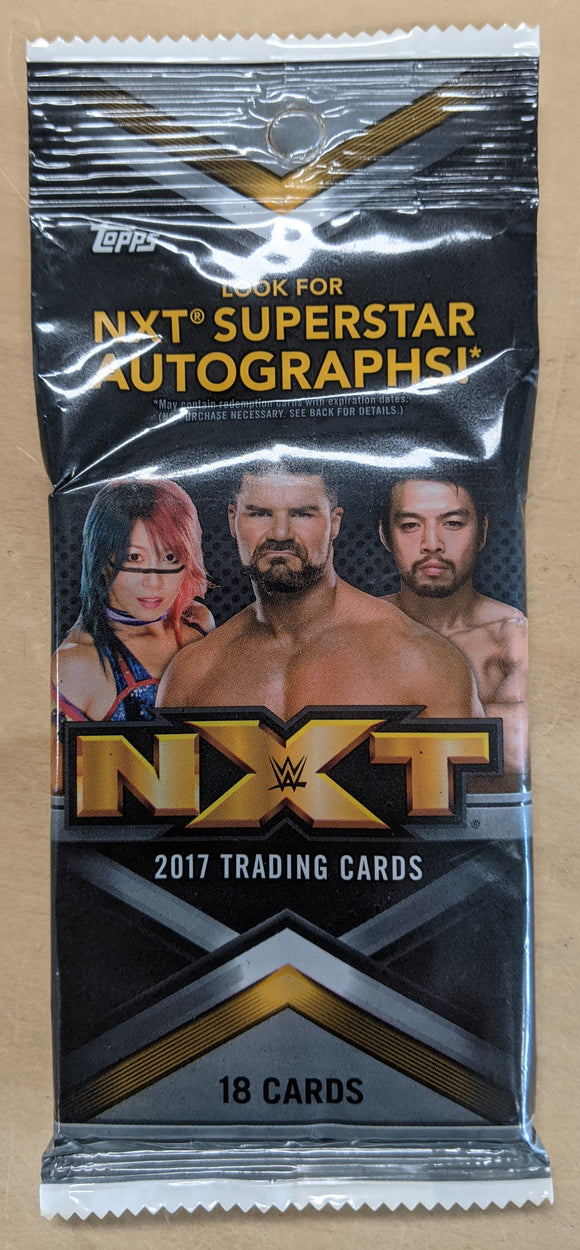 2017 Topps WWE NXT wrestling cards - Cello/Fat/Value Pack