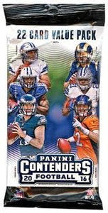 2016 Panini Contenders NFL Football - Cello/Fat/Value Pack