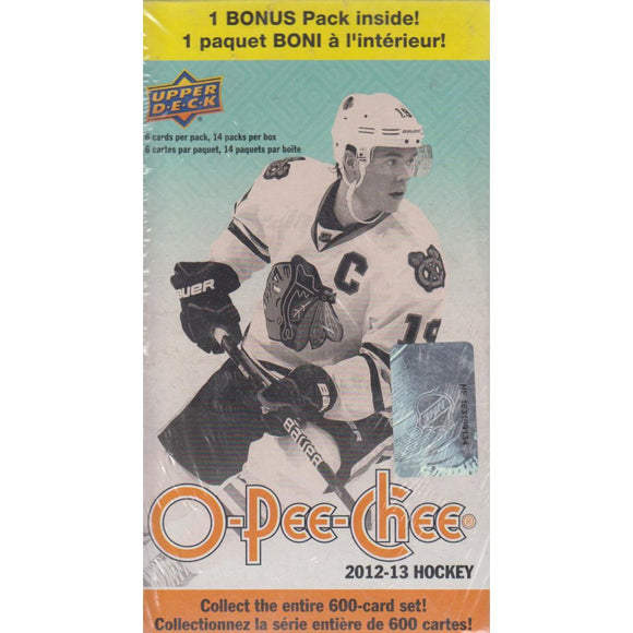 2012-13 Upper Deck O-Pee-Chee NHL Hockey cards - Blaster Box