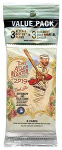 2019 Topps Allen & Ginter MLB Baseball - Cello/Fat/Value Pack