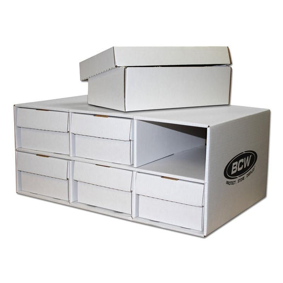 BCW Shoe Box House Cardboard Storage Box w/ 6 shoe boxes