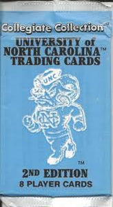 1990 Collegiate Collection North Carolina trading cards - Retail Pack