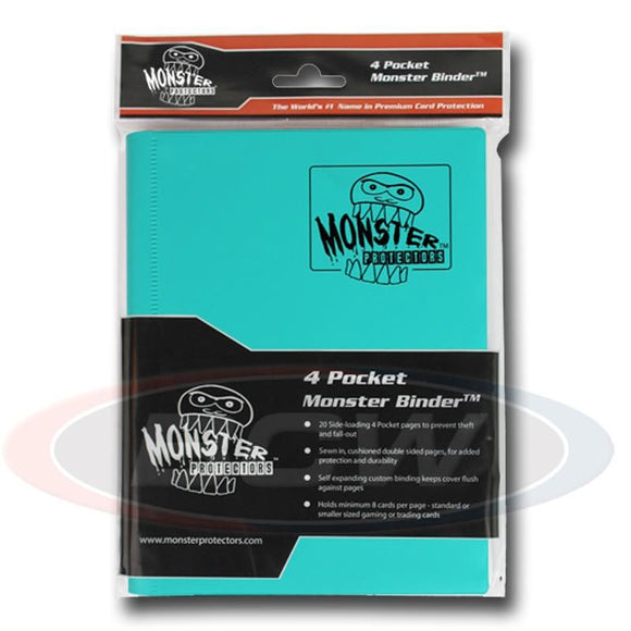 Monster 4-Pocket Album Binder - Matte Teal