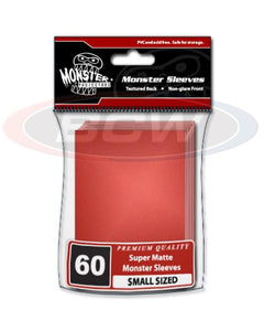 Monster Small Deck Guard Sleeves - Matte Red