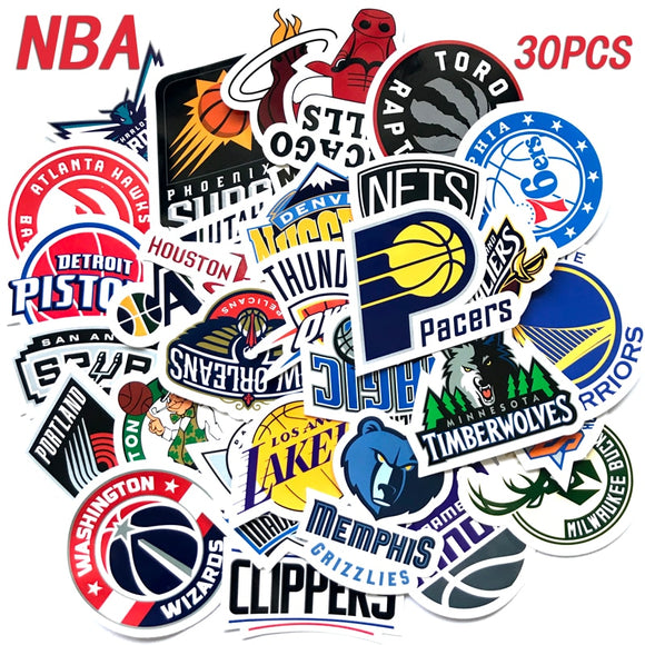 NBA Teams 30pc Sticker Collection