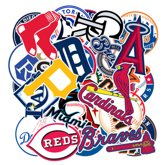 MLB Teams 30pc Sticker Collection