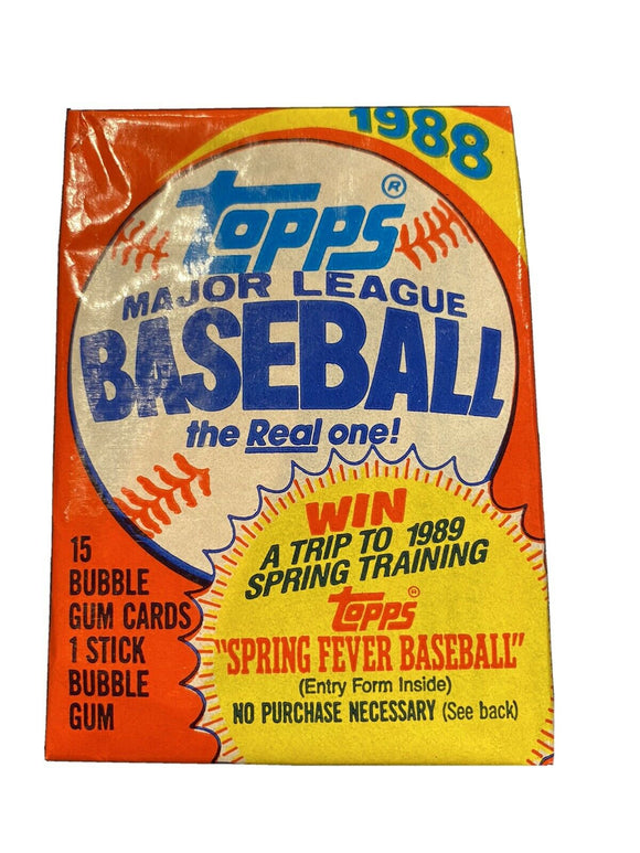 1988 Topps MLB Baseball cards - Retail Pack