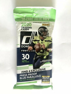 2020 Panini Donruss NFL Football - Cello/Fat/Value Pack