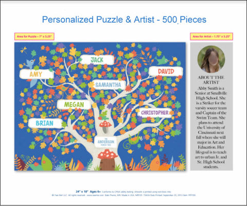"""Puzzle box with """"Showcase the Artist"""""""