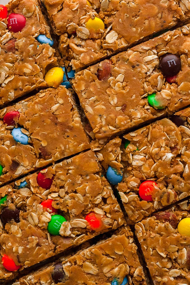 Monster Cookie Granola Bars