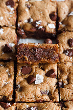 Paleo Chocolate Chip Nutnola Butter Blondies