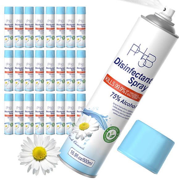 PH5B Disinfectant Spray Fresh Chamomile Scent- 75% Ethyl Alcohol 16.9oz/ 500ml (24 Pack)
