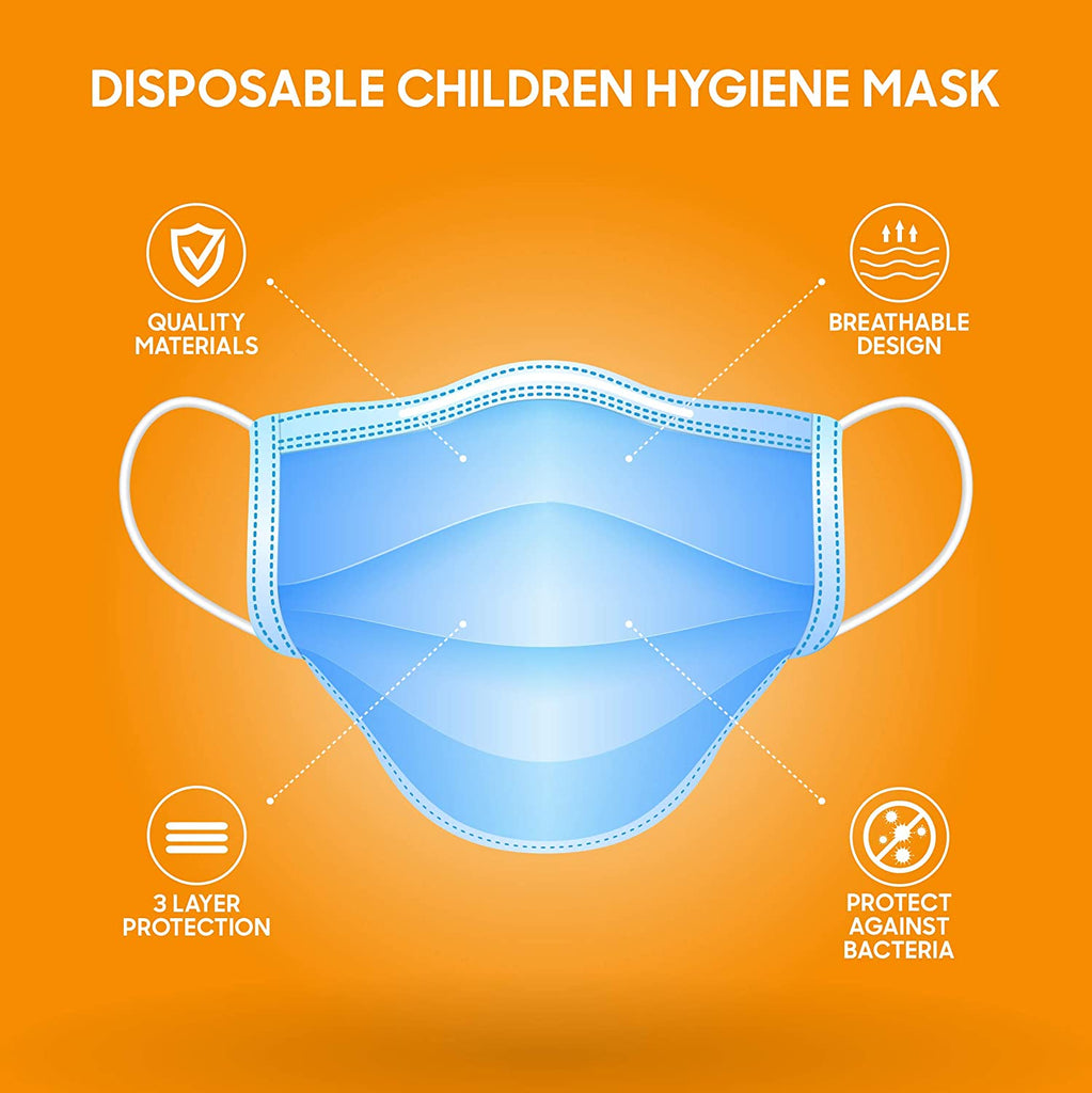Face Mask for Kids, Pack of 50-PH5B Cosmetics