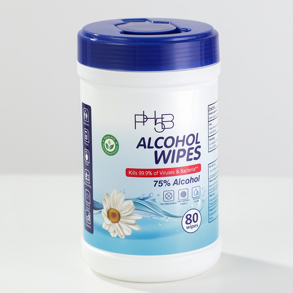 Ph5b 75% Alcohol Disinfectant Wipes- 80pc