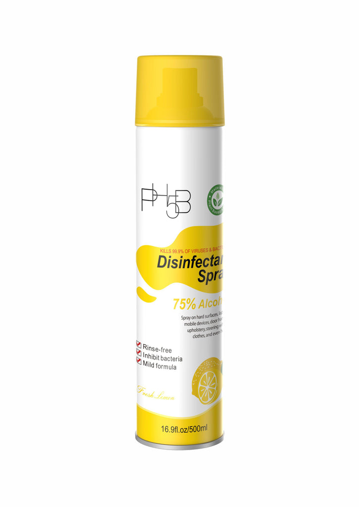 Disinfectant spray Lemon 500ml-PH5B Cosmetics