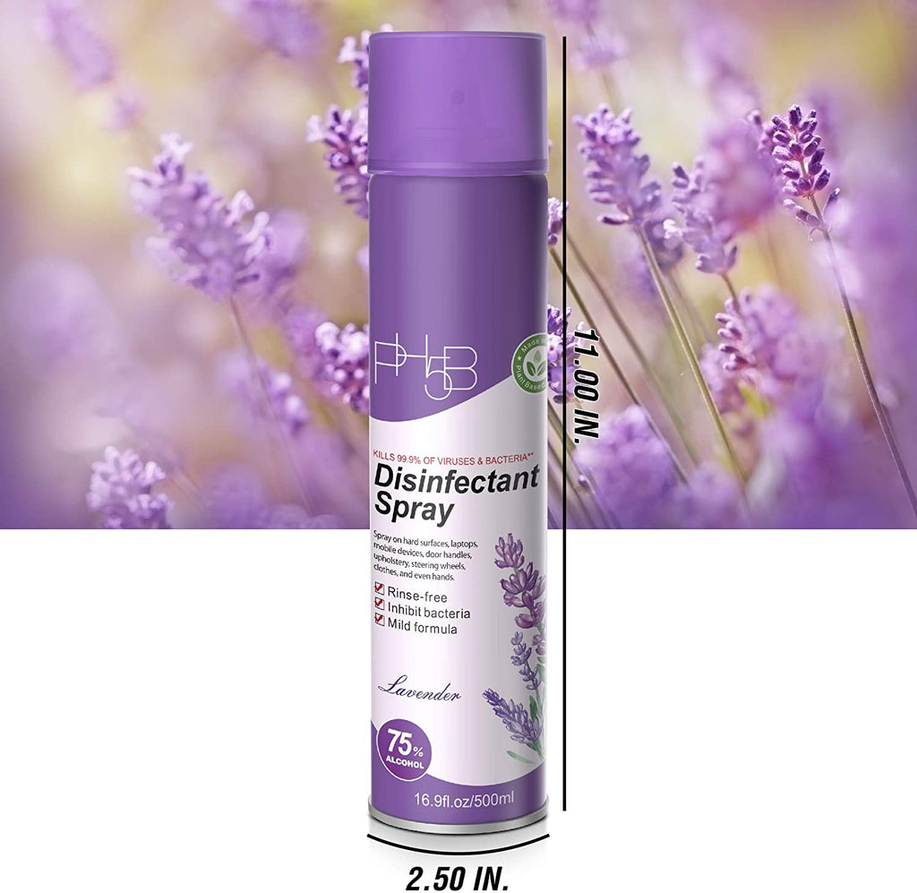 Disinfectant Spray Fresh Lavender Scent 16.9oz/ 500ml (24 Pack)