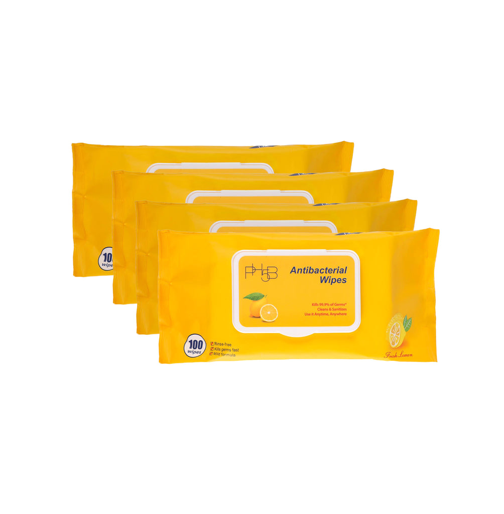 Antibacterial Wipes 100ct - Lemon (24 packs)