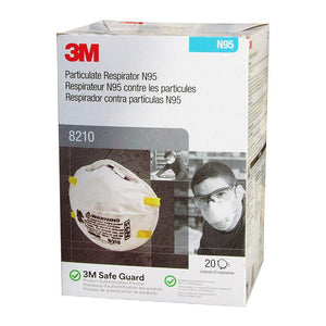 3M 8210 N95 NIOSH (Box of 20)
