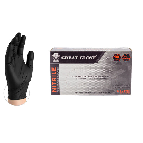 Black Nitrile Gloves (100/box)