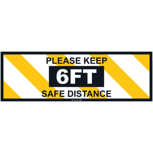 Social Distancing Floor Sign (10 pack)