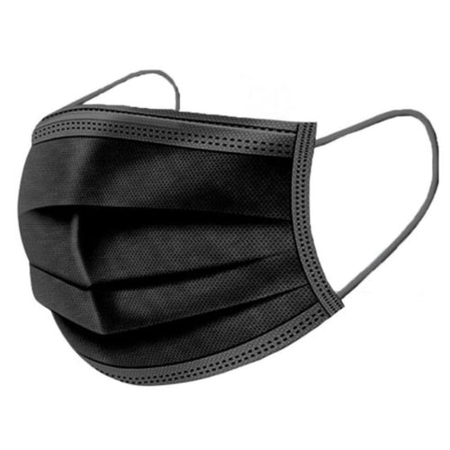 Black 3-Ply Mask (50 pack)