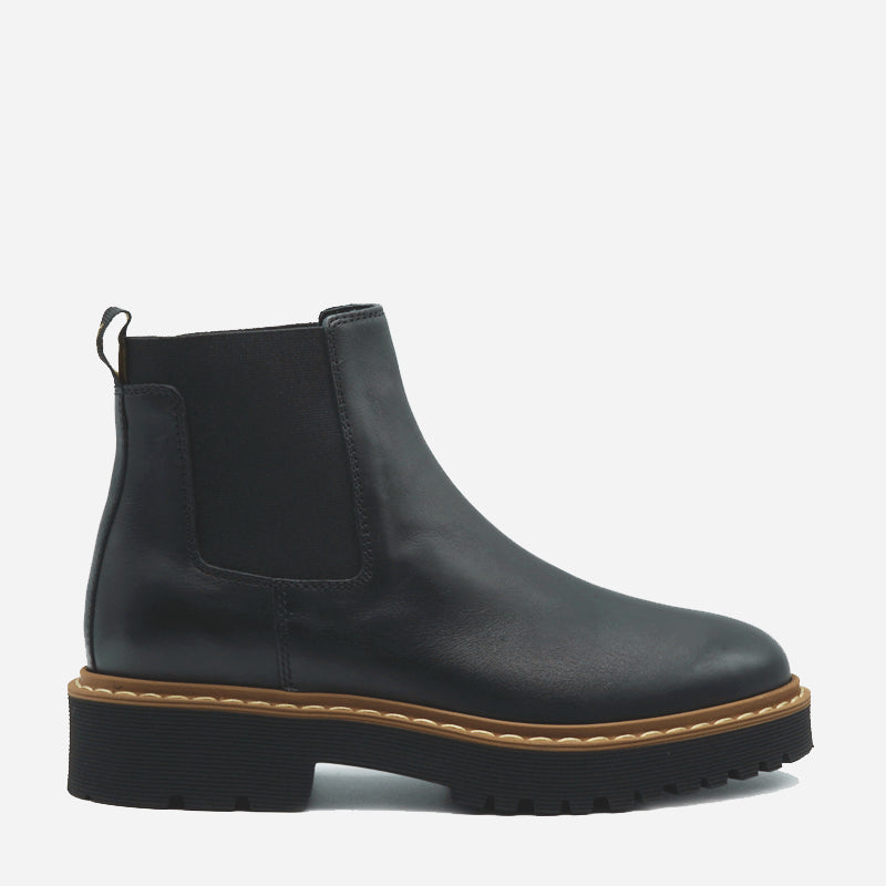 Hogan Donna Chelsea Boot in pelle nero