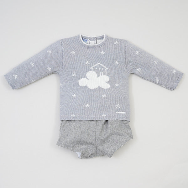 Clouds 2 Piece Set in Grey