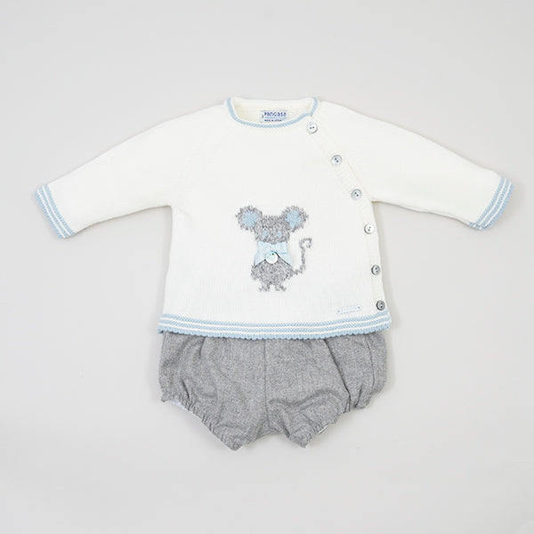 Little Mouse Boys 2 Piece Set Ivory