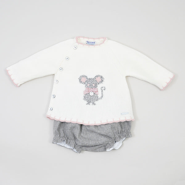 Little Mouse Girls 2 Piece set Ivory