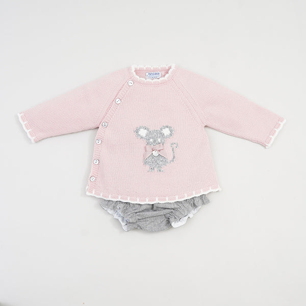 Little Mouse Girls 2 Piece set Rose