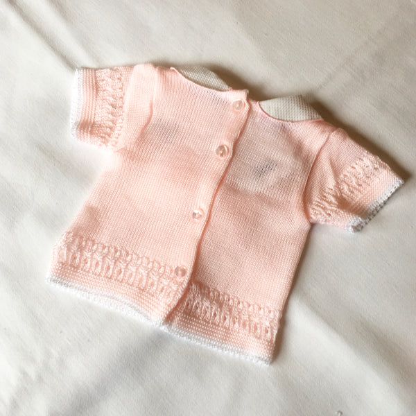 My Little Chick Knitted Baby 2 Piece Set with Bow