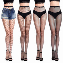 Laden Sie das Bild in den Galerie-Viewer, Black Mesh Stockings Fishnet Tights High Quality Leggings - playsuite.de