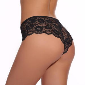 Front Bow-Knot Hollow Out Panty Underwear - playsuite.de