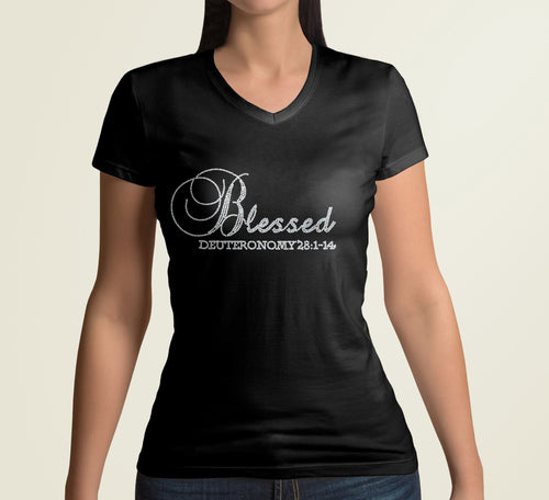 Black fitted Women's Bible verse t-shirt with