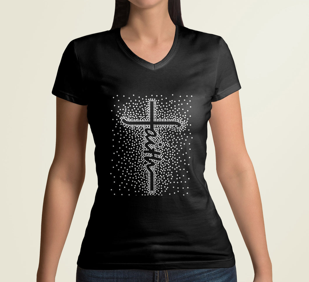 Faith Apparel- Black fitted tee with