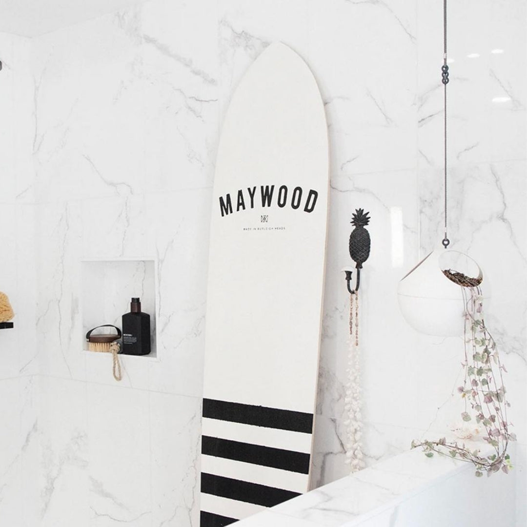 Maywood Swell lines wooden surfboard