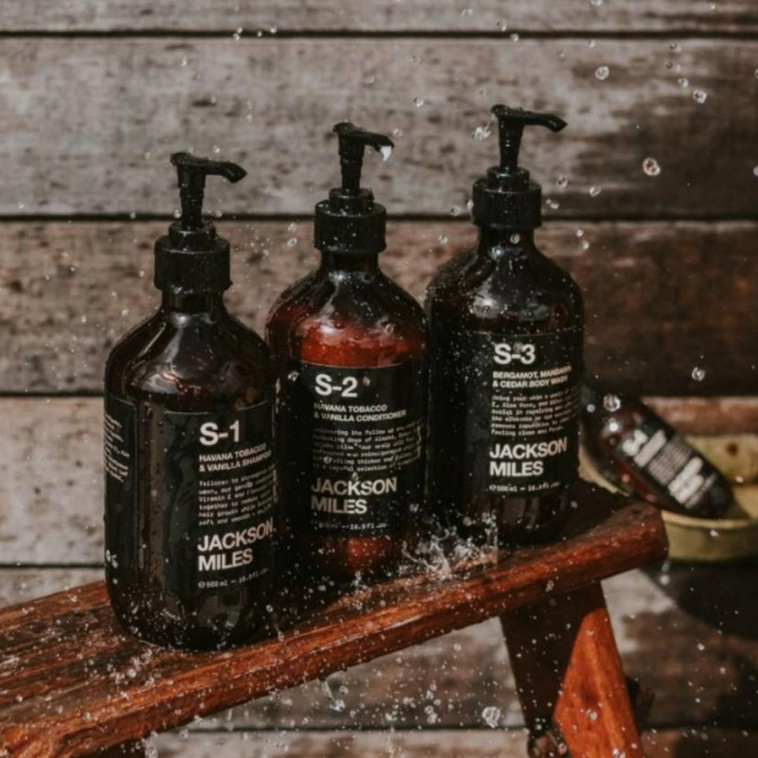 Jackson Miles S1 S2 S3 hair and body gift pack for men | Remarkable Humans