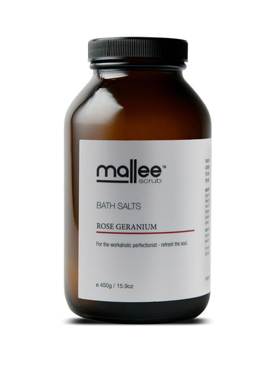 Rose Geranium Bath Salts-Mallee Scrub-All Australian Made-Remarkable Humans