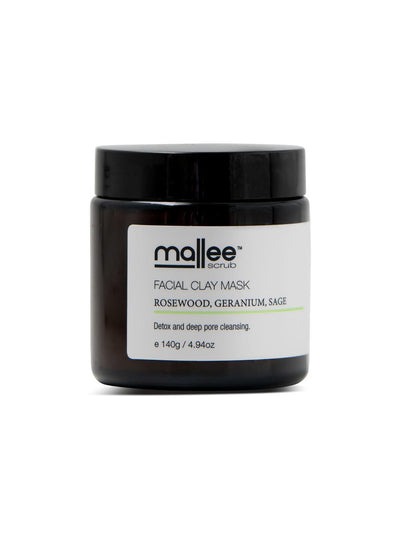 Rosewood, Geranium, Sage Facial Clay Mask-Mallee Scrub-All Australian Made-Remarkable Humans