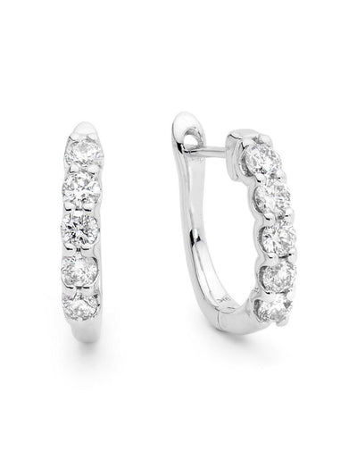 Sand Hoop Earrings-Australian Diamond Valley-9kt White Gold-All Australian Made-Remarkable Humans