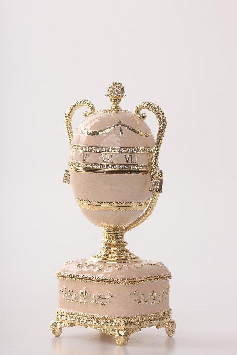 Pink Faberge Egg with Gold Handles
