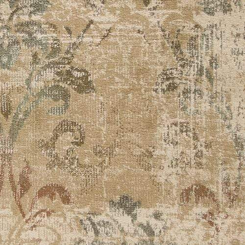 "5'3"" x 7'8"" Champagne Damask Area Rug"