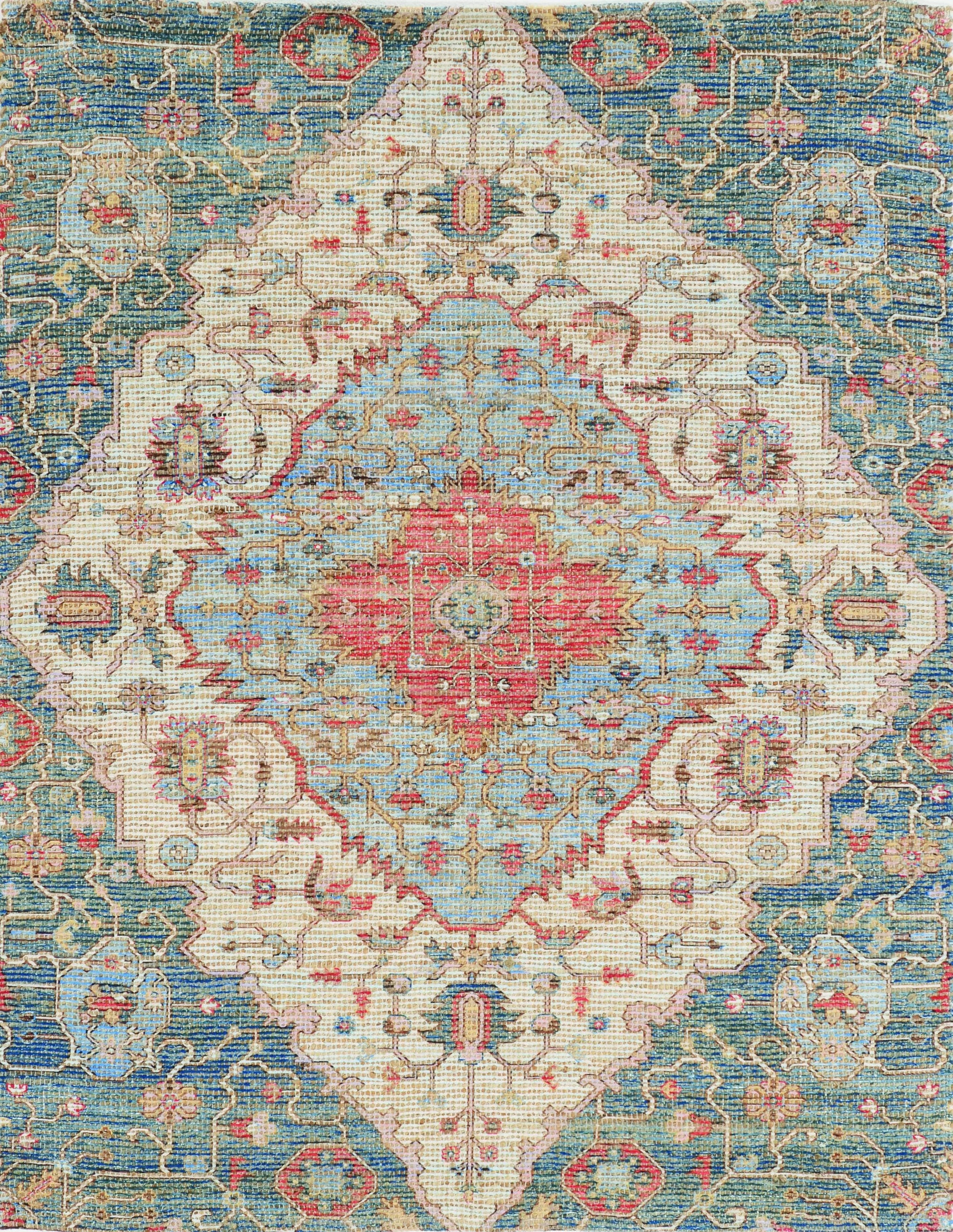 5' x 7' Gramercy Blue Red Area Rug