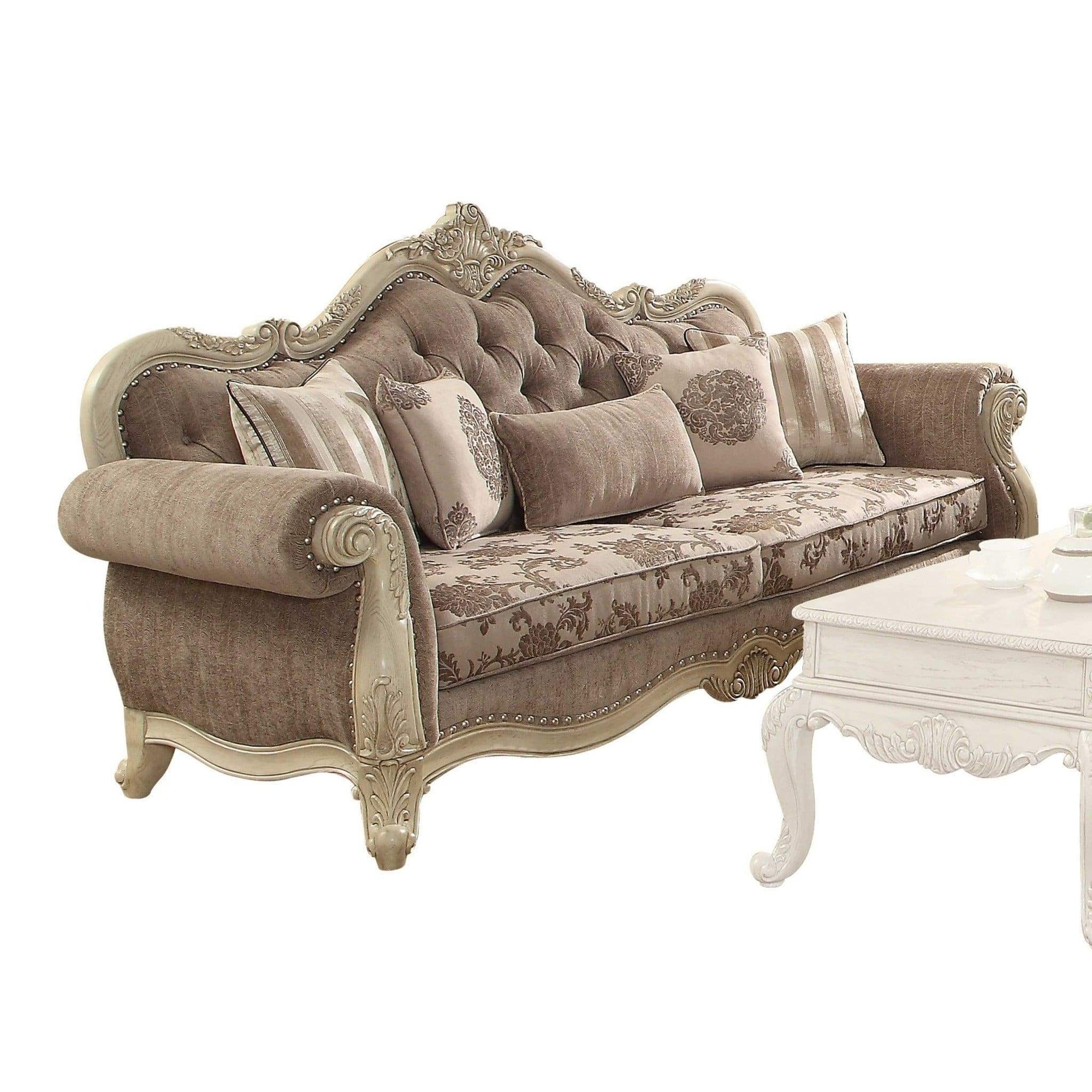 Antique Gray Accent Sofa | antique sofa | traditional furniture | living room furniture | antique couch | sofa set | sofa | furniture